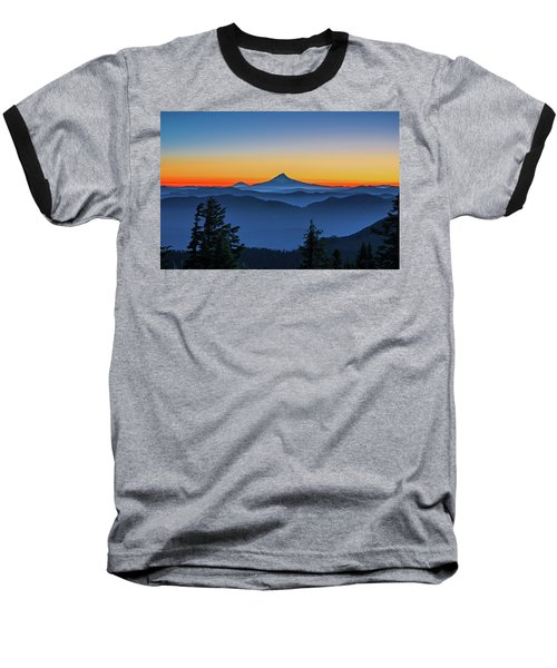 Dawn On The Mountain Baseball T-Shirt