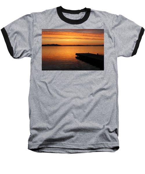 Dawn On The Water At Dusavik Baseball T-Shirt