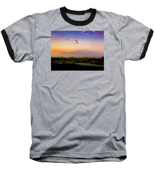 Dawn With Storks And Ararat From Night Train To Yerevan II Baseball T-Shirt