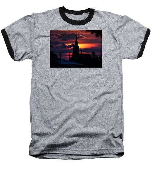 Dawning Faith Baseball T-Shirt by Shirley Heier