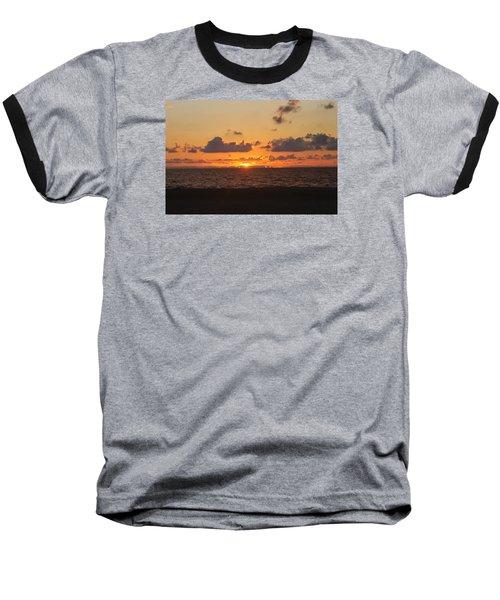 Baseball T-Shirt featuring the photograph Dawn's Cloud Layers by Robert Banach