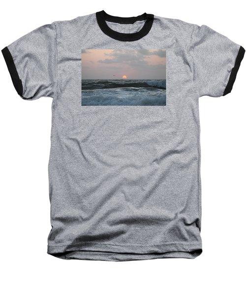 Baseball T-Shirt featuring the photograph Dawn's Crashing Seas by Robert Banach