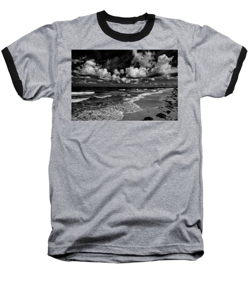 Day At The Beach Baseball T-Shirt by Kevin Cable