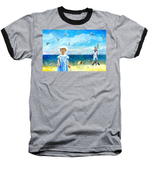 Day At The Shore Baseball T-Shirt by Alexis Rotella