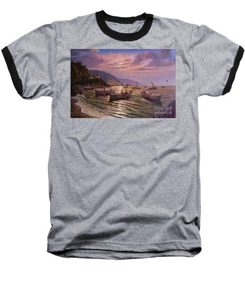 Day Ends On The Amalfi Coast Baseball T-Shirt