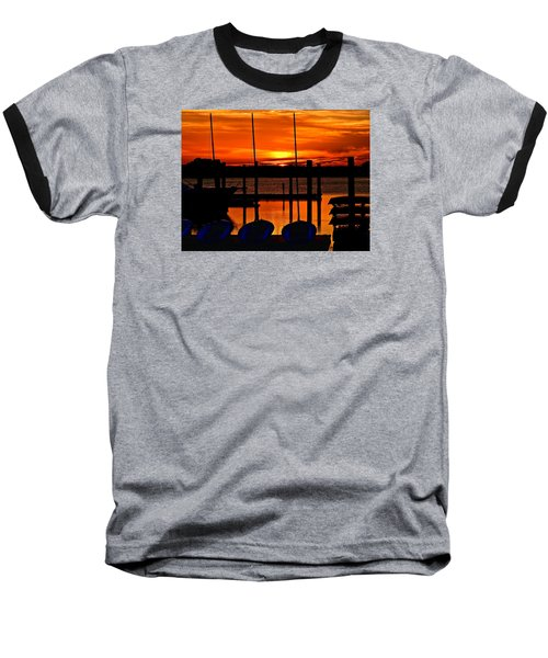 Baseball T-Shirt featuring the photograph Day Is Done by Laura Ragland