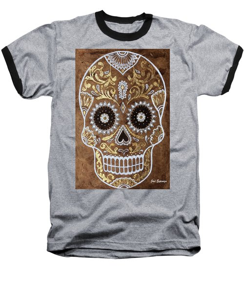 Baseball T-Shirt featuring the painting Day Of Death by J- J- Espinoza