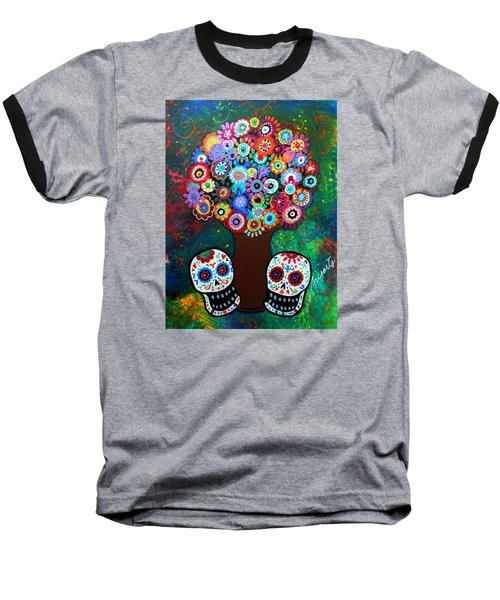 Day Of The Dead Love Offering Baseball T-Shirt