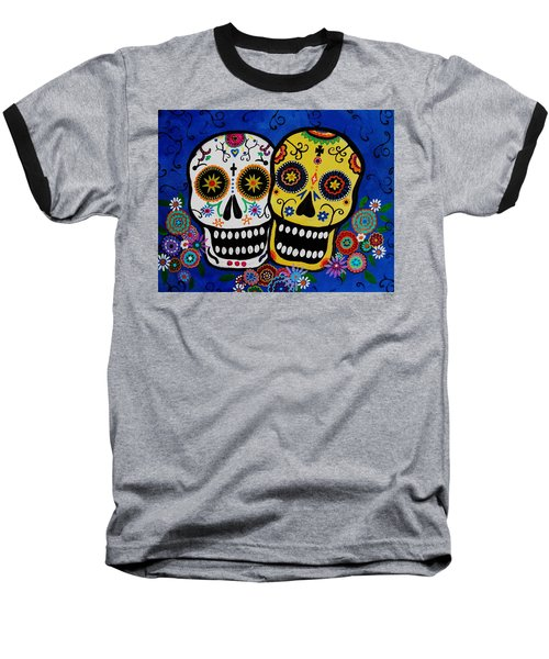 Day Of The Dead Sugar Baseball T-Shirt