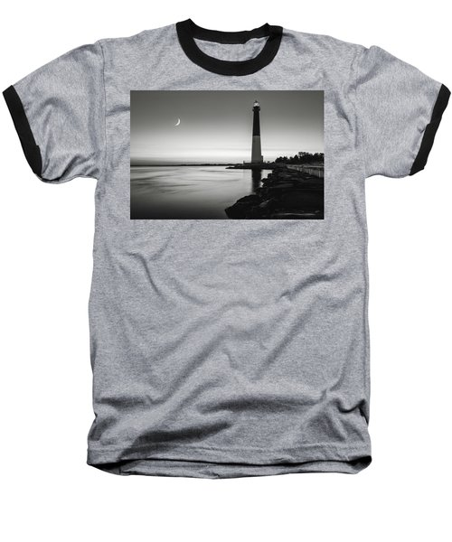 Baseball T-Shirt featuring the photograph Daybreak At Barnegat, Black And White by Eduard Moldoveanu