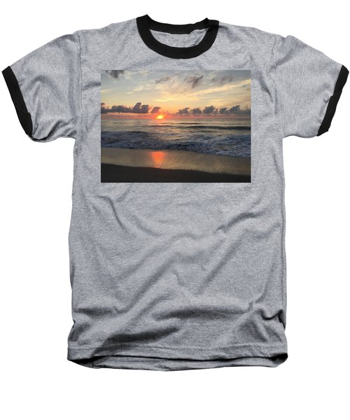 Daybreak At Cocoa Beach Baseball T-Shirt