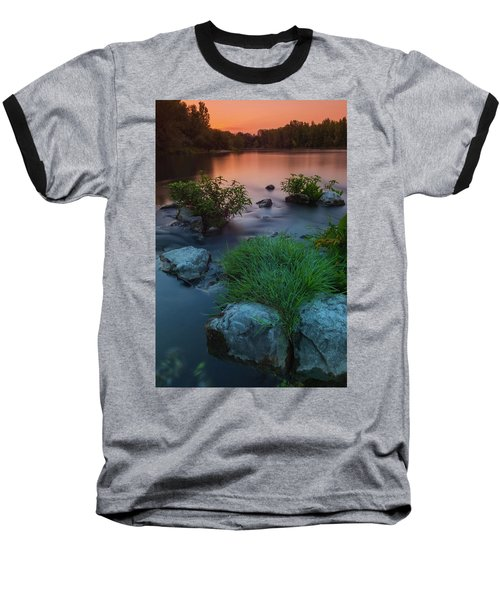 Daybreak Over The Old Riverbed Baseball T-Shirt