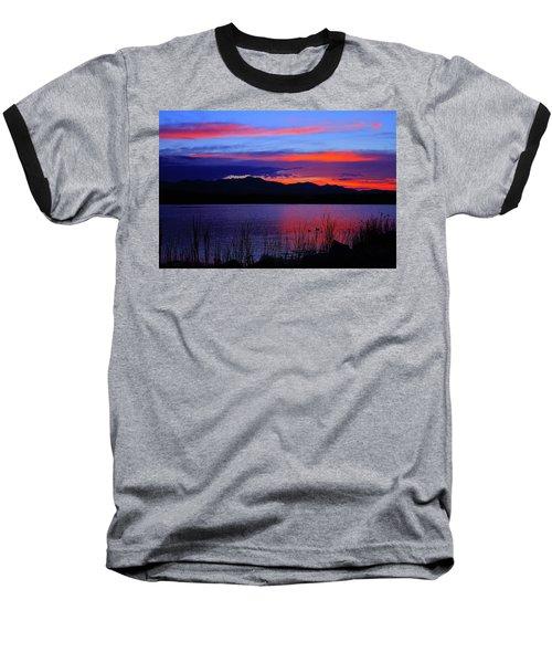 Daybreak Sunset Baseball T-Shirt by Paul Marto