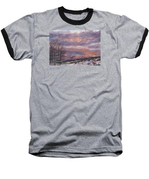 Daylight's Last Blush Baseball T-Shirt by Anne Gifford