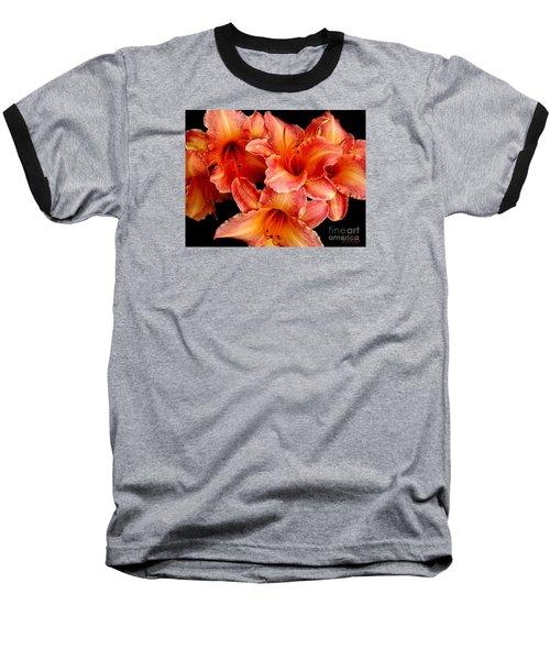 Daylilies 1 Baseball T-Shirt by Rose Santuci-Sofranko