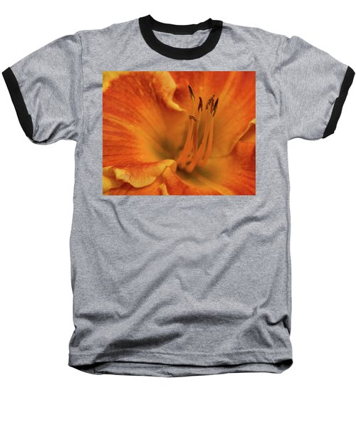 Baseball T-Shirt featuring the photograph Daylily Close-up by Sandy Keeton