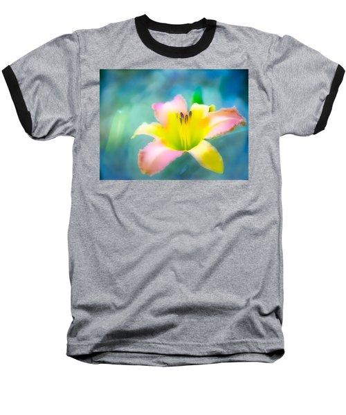 Daylily In Blue Baseball T-Shirt