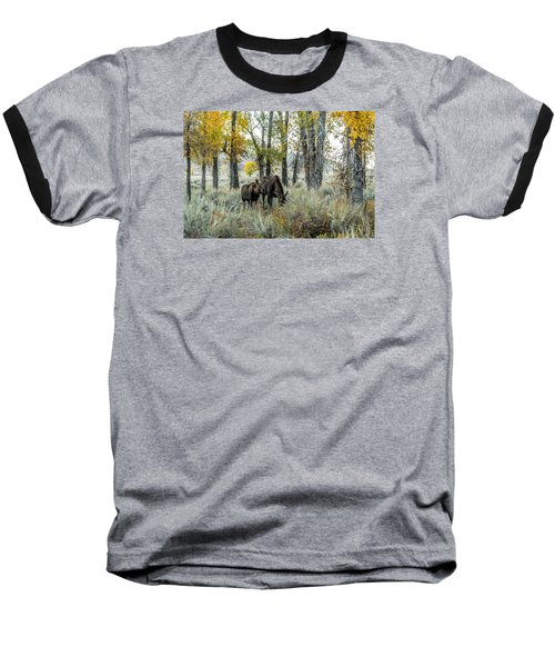 Baseball T-Shirt featuring the photograph Day's End At Gros Ventre by Yeates Photography
