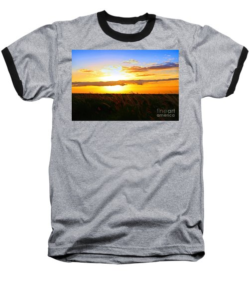 Baseball T-Shirt featuring the photograph Day's End by DJ Florek