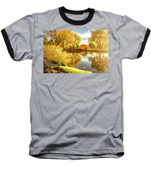 Baseball T-Shirt featuring the photograph Days Last Rays by Kristal Kraft