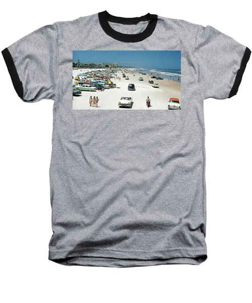 Daytona Beach Florida - 1957 Baseball T-Shirt by Merton Allen