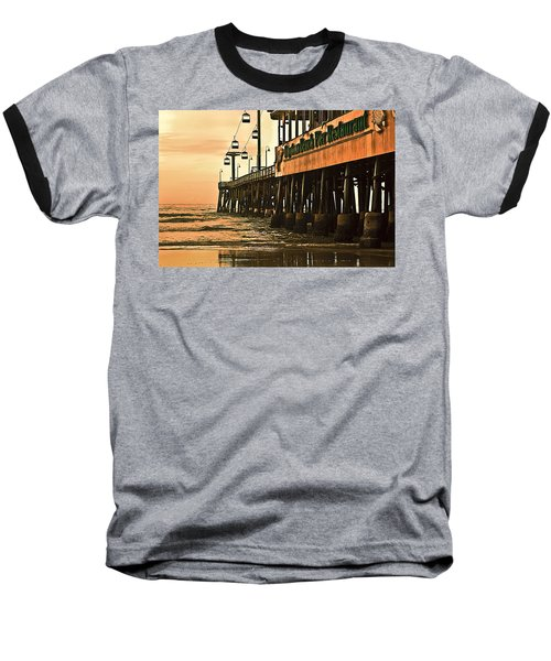 Daytona Beach Pier Baseball T-Shirt