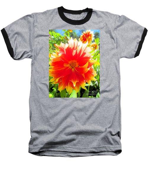Dazzling Dahlia Baseball T-Shirt