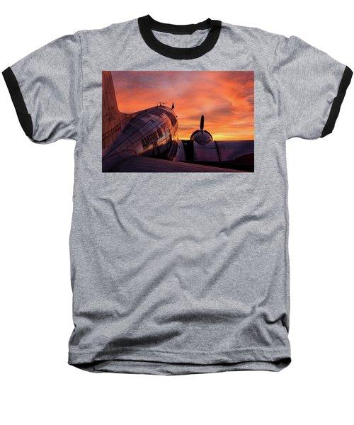 Dc-3 Dawn - 2017 Christopher Buff, Www.aviationbuff.com Baseball T-Shirt