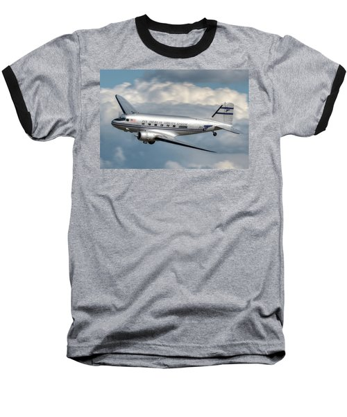 Baseball T-Shirt featuring the photograph Dc-3 by Jeff Cook