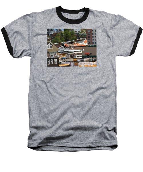 De Havilland Beaver Is Airborne Baseball T-Shirt by Allan Levin