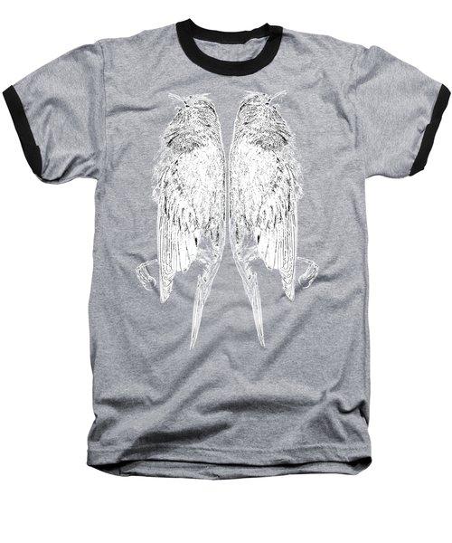 Dead Birds Tee White Baseball T-Shirt by Edward Fielding