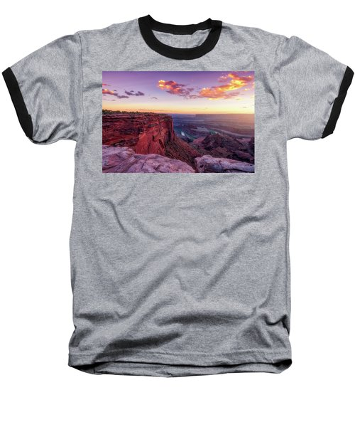 Baseball T-Shirt featuring the photograph Dead Horse Point Sunset by Darren White