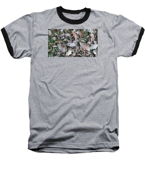 Baseball T-Shirt featuring the mixed media Dead Leaves by Don Koester