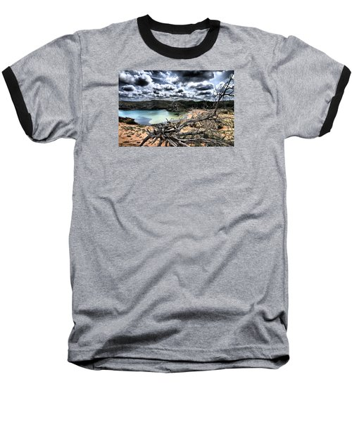 Dead Nature Under Stormy Light In Mediterranean Beach Baseball T-Shirt