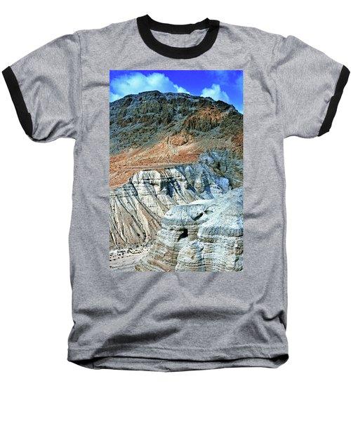 Dead Sea Scroll Caves Baseball T-Shirt