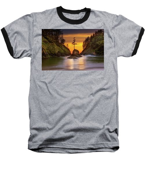 Deadman's Cove At Cape Disappointment State Park Baseball T-Shirt