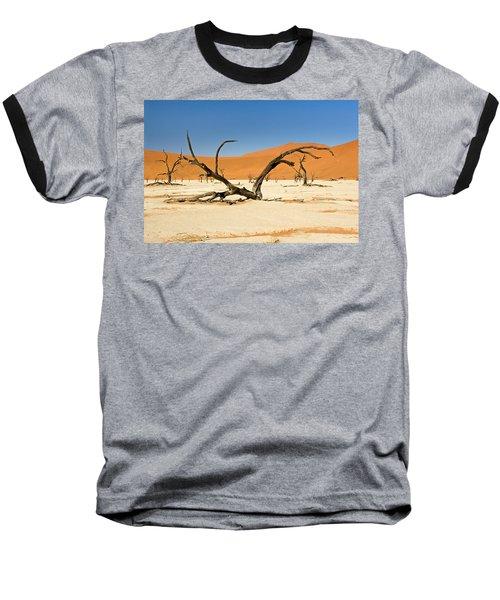 Deadvlei With Tree Baseball T-Shirt by Aivar Mikko