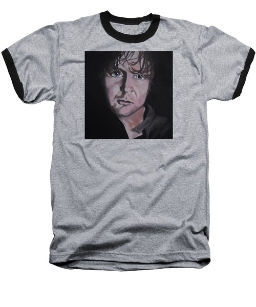 Baseball T-Shirt featuring the painting Dean Ambrose Portrait by Susan Solak
