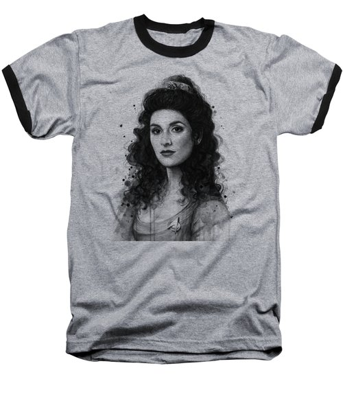 Deanna Troi - Star Trek Fan Art Baseball T-Shirt by Olga Shvartsur