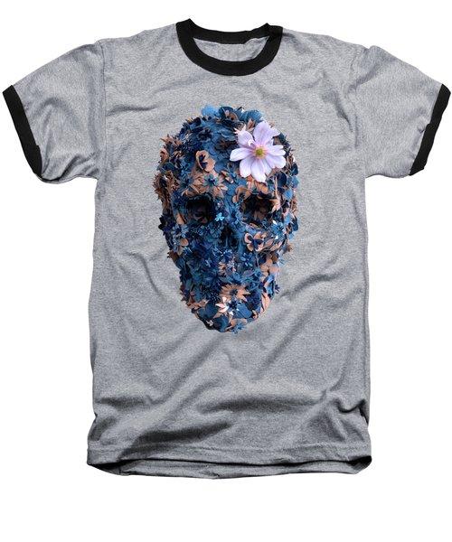 Skull 9 T-shirt Baseball T-Shirt by Herb Strobino