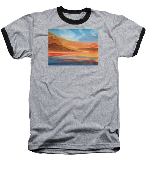 Baseball T-Shirt featuring the painting Death Valley by Ellen Levinson