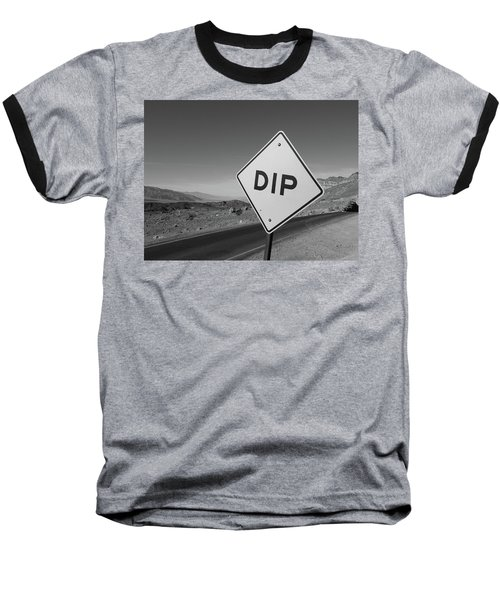 Baseball T-Shirt featuring the photograph Death Valley Roadsign by Frank DiMarco