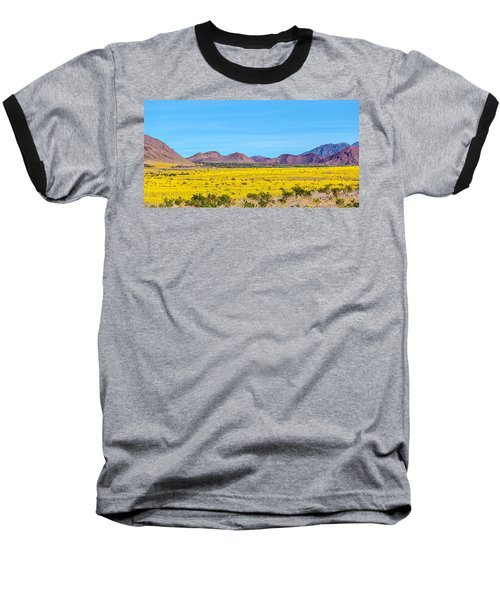 Death Valley Super Bloom 2016 Baseball T-Shirt by Peter Tellone