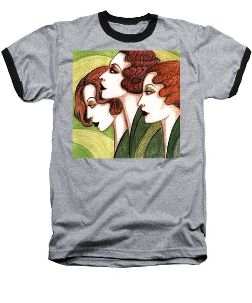 Debutante Trio Baseball T-Shirt by Tara Hutton