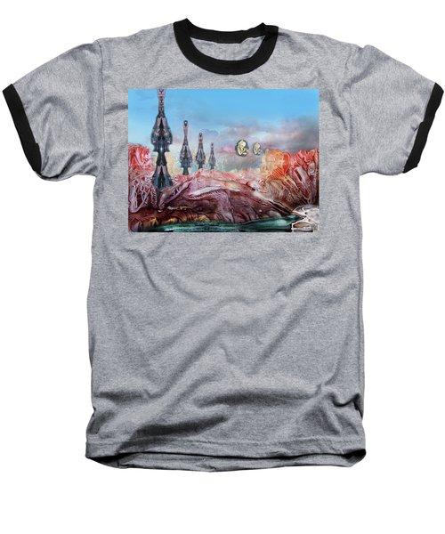 Decalcomaniac Transmission Towers Baseball T-Shirt