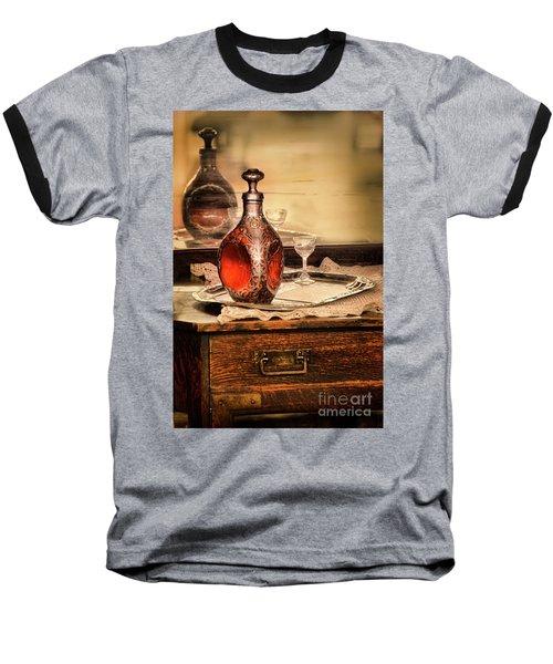 Baseball T-Shirt featuring the photograph Decanter And Glass by Jill Battaglia