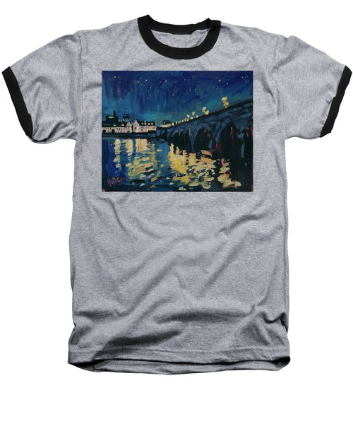 December Lights At The Old Bridge Baseball T-Shirt