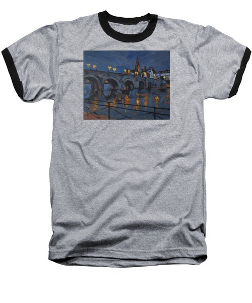 December Lights Old Bridge Maastricht Acryl Baseball T-Shirt