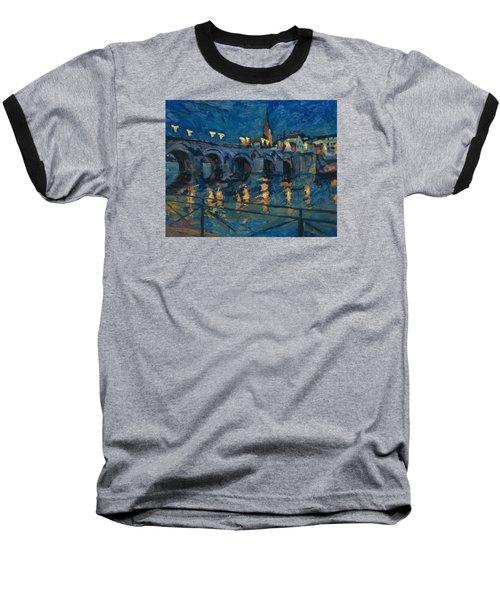 December Lights Old Bridge Maastricht Baseball T-Shirt by Nop Briex