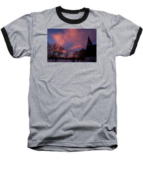 December Skies Baseball T-Shirt by Ellery Russell